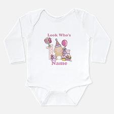 First Birthday Baby Girl Long Sleeve Infant Bodysu