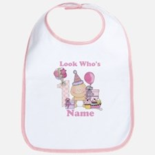 First Birthday Baby Girl Bib
