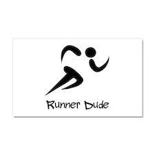 Runner Dude Car Magnet 20 x 12