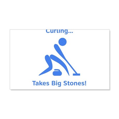 Curling Takes Big Stones! 22x14 Wall Peel
