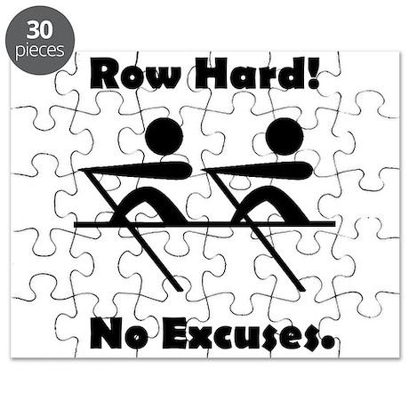 Row Hard! No Excuses. Puzzle