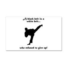 Black Belt Refusal Car Magnet 20 x 12