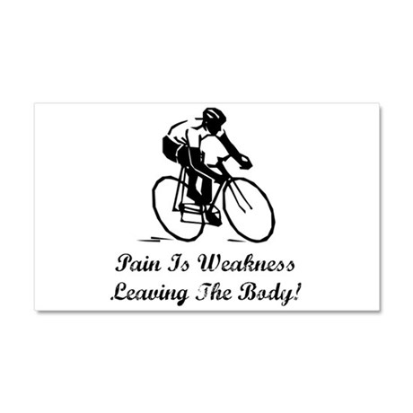 Pain Is Weakness Car Magnet 20 x 12