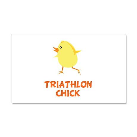 Triathlon Chick Car Magnet 20 x 12