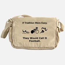 Traithlon Football Messenger Bag