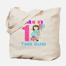 First Birthday Girl Tote Bag