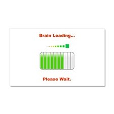 Brain Loading Car Magnet 20 x 12