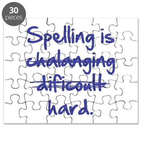 Spelling Is Hard Puzzle