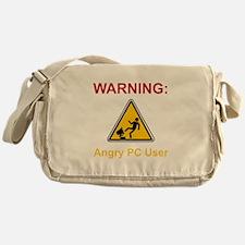 Angry PC User Messenger Bag