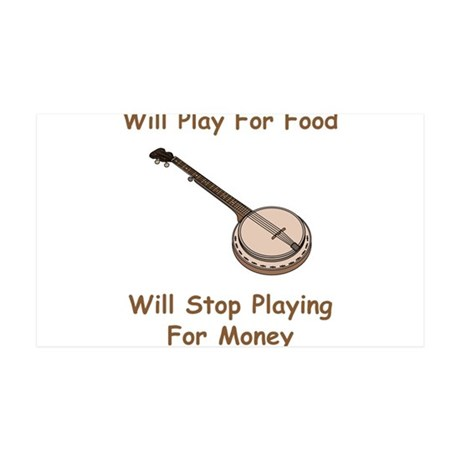 Banjo Stop Playing For Money 38.5 x 24.5 Wall Peel