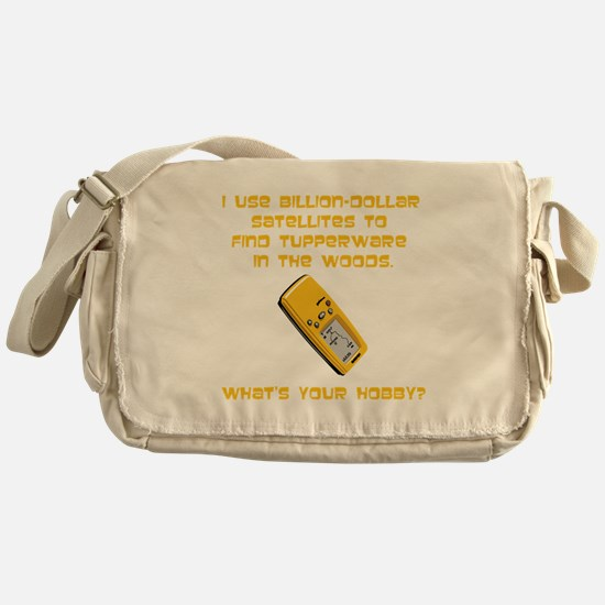 Geochaching What's Your Hobby Messenger Bag
