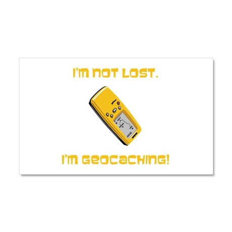 I'm not lost. I'm geocaching. Car Magnet 20 x 12