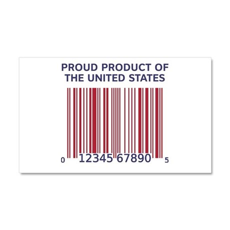 Product Of U.S. Barcode Car Magnet 20 x 12