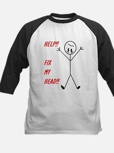 Help! Fix My Head! Kids Baseball Jersey