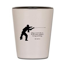 Fencing Style 4 Shot Glass