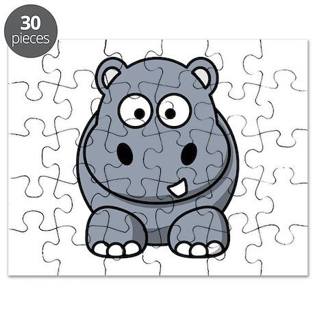 Cartoon Hippopotamus Puzzle