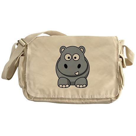 Cartoon Hippopotamus Messenger Bag