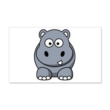 Cartoon Hippopotamus 22x14 Wall Peel