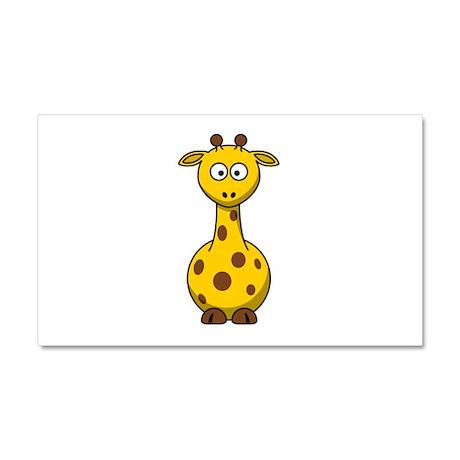 Cartoon Giraffe Car Magnet 20 x 12