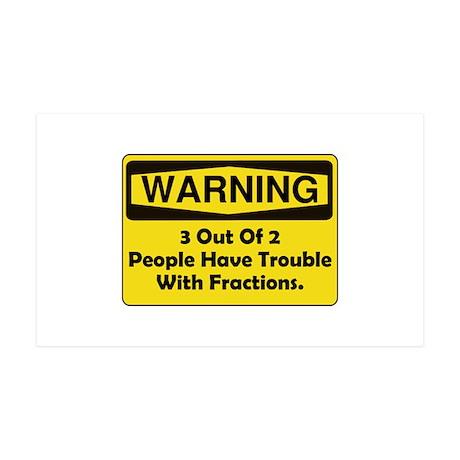 Warning Fraction 38.5 x 24.5 Wall Peel