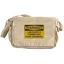 Warning Grammar Messenger Bag