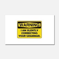 Warning Grammar Car Magnet 20 x 12