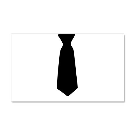 Black Neck Tie Car Magnet 20 x 12