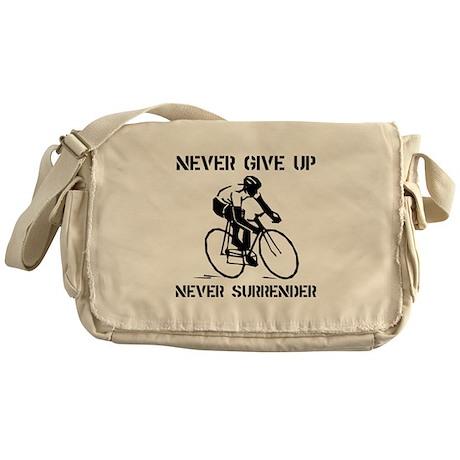 Never Give Up Biker Messenger Bag