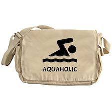 Aquaholic Swimmer Messenger Bag