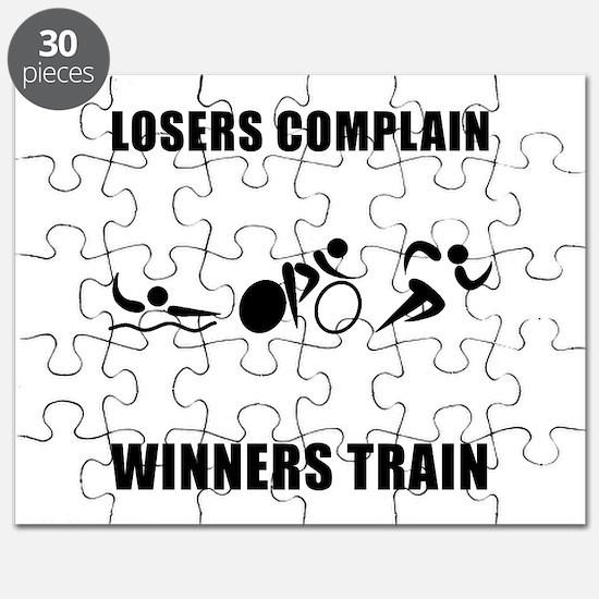 Triathlon Winners Train Puzzle