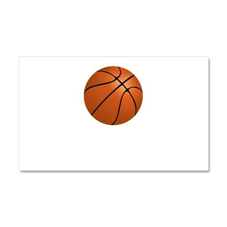 Basketball Smile Car Magnet 20 x 12
