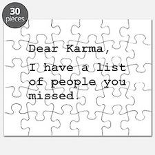 Dear Karma Puzzle