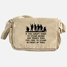 Stand Behind Troops Messenger Bag