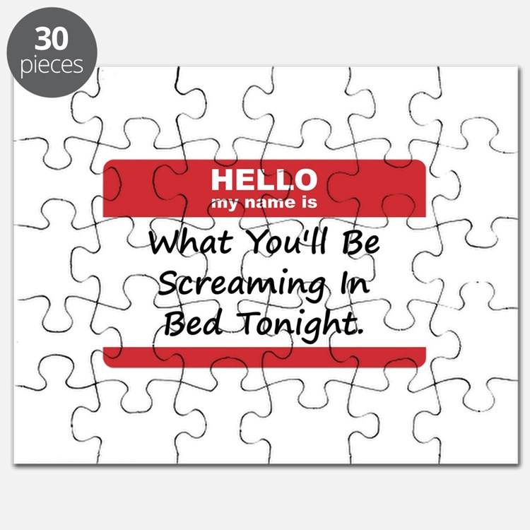 Hello My Name Is In Bed Puzzle