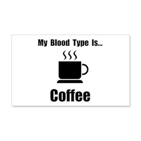 Blood Type Coffee 22x14 Wall Peel