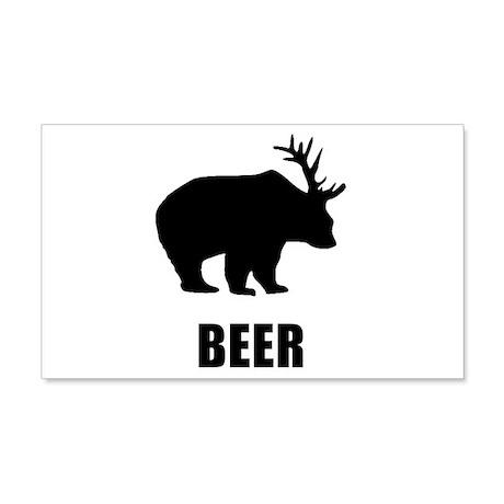 Beer Bear 22x14 Wall Peel