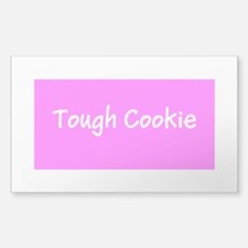 Pink Tough Cookie Breast Cancer Awareness Decal
