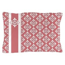 Pink Damask Pattern Pillow Case