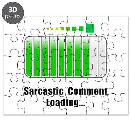 Sarcastic Comment Loading Puzzle