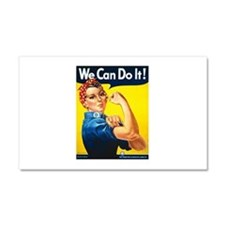 Rosie We Can Do It Car Magnet 20 x 12
