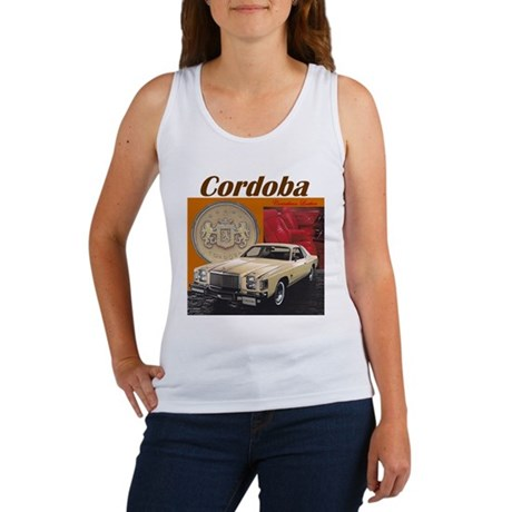 1979 Chrysler Cordoba Design Women's Tank Top