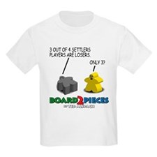 3 out of 4 Settlers Players.. Kids T-Shirt