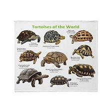 Tortoises of the World Throw Blanket