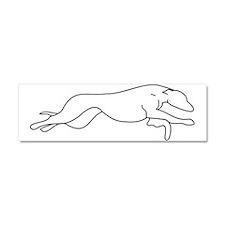 Greyhound Outline multi color Car Magnet 10 x 3