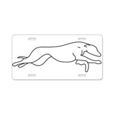 Greyhound Outline multi color Aluminum License Pla