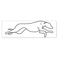 Greyhound Outline multi color Bumper Sticker
