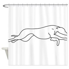 Greyhound Outline multi color Shower Curtain