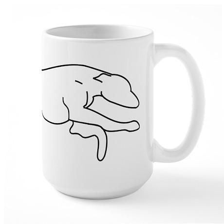 Greyhound Outline multi color Large Mug