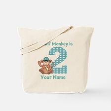 2nd Birthday Monkey Tote Bag