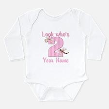 2nd Birthday Dragonfly Long Sleeve Infant Bodysuit